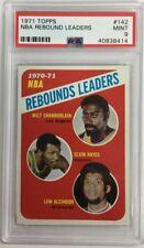 1971 Topps NBA Scoring Leaders #142 Lew Alcindor/Chamberlain/Hayes PSA 9