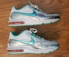 2009 Youth Nike Air Max Running Shoes Turquoise Silver Size 6Y  7.5 womens Rare