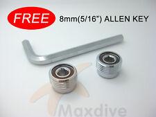2 Pcs Scuba Valve Outlet Din Plug Adapter G5/8 Din Insert 8mm Hex Free Allen Key