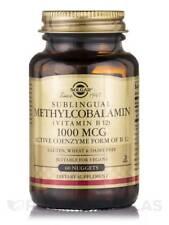 Solgar Sublingual Methylcobalamin Vitamin B12 1000 Mcg 60 Nuggets