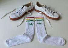 Adidas White Tube Retro '80s Sports Socks - Lads Mens UK Size 7-11 - Great!