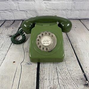 VINTAGE 1970 GREEN ROTARY BT TELEPHONE