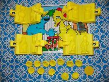 RARE 1987 Play Doh Sesame Street Character Molds Set & Mat 15+ Pc. Big Bird -X1