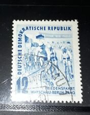 East DDR  1952  cyclists fine used stamps