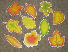 Teacher Resource: 10 Fall / Autumn Leaves Bulletin Board Cut-outs
