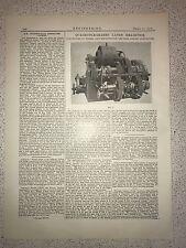 Quadruple Geared Lathe Headstock, Manchester: 1912 Engineering Magazine Print