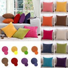 43cm Corduroy Fabric Square Cushion Cover Throw Pillow Case Home Sofa Decor FSG