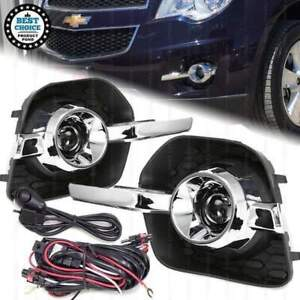For 2010-2015 Chevrolet Equinox Projector Left Right Fog Lights Bezel Wires Bulb