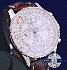 BREITLING NAVITIMER DATORA MONTBRILLIANT MOONPHASE A21330 CROCO BAND & PAPERS