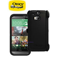 New OtterBox Defender Series Case & Holster for HTC One M8 - Black 77-38919