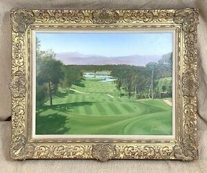 Graeme Baxter Originale Olio Pittura Golf Campo Pga Catalunya Caldas Spagna Raro