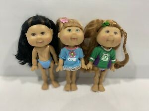 3 X Cabbage Patch Kids 2006 Lil Sprouts Mini Dolls