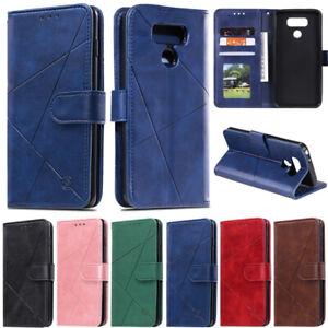 Luxury Wallet Leather Flip Case Cover For LG Q60 Q70 K50 K40 G7 Stylo 5 Stylo 4