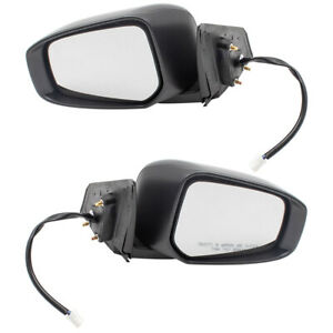 New Pair Set Power Side View Mirror Heated Signal for 15 16 17 Mitsubishi Lancer