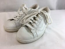 VTG Vans Sneakers Shoes Womens 8 Solid White Leather Low Top Lace Up