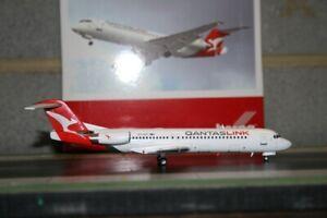 Herpa 1:200 Qantaslink Fokker F-100 VH-NHP (559096) Qantas Die-Cast Model Plane