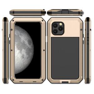 iPhone 11 12 13 Pro Max Case Cover Metal Bumper IP54 Waterproof Screen Glass