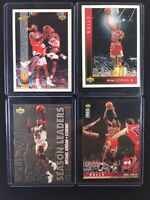 Michael Jordan Basketball Cards Lot Of 4 Upper Deck Pro View Collectors Leaders