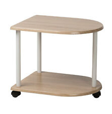 2 Tier Side Table Wheeled Drinks Serving Tea Trolley Wood Kitchen Dining Cart