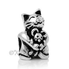 Cat And Mouse European Charm Bead - Large Hole Bead For European Charm Bracelets