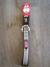 "Kong Comfort Padded Adj. Dog Collar Large 18""-26"" in. Cushioned Grey NWT"