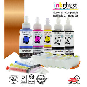 Ink👻 Refillable Cartridge alternative for Epson 273 273XL XP510 520 XP600 XP610