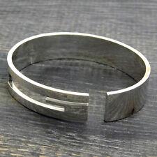 GUCCI 925 Sterling Silver Cutout G Logo Bracelet Bangle #205f Rise-on