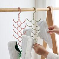 New Multi Purpose Plastic Clothes Hanger And Tie Scarf Rack Belt Storage Rack UK