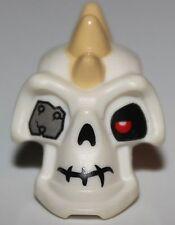 Lego Ninjago White Minifig Head Modified Skeleton Tan Spikes Metal Eye Nuckal