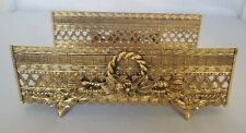 Vintage Hollywood Regency Gold Vanity Accessory Guest Towel Holder Matson