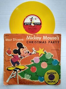 Mickey Mouse Christmas Party Jingle Bells Golden Disney Club Record 78 RPM