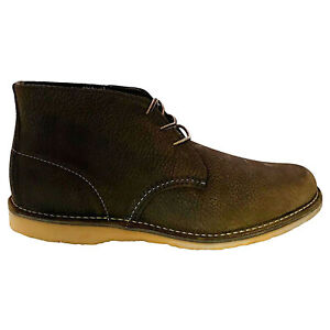 Red Wing Mens Boots Chukka Casual Lace-Up High-Profile Ankle Leather
