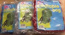 PVC Inflatable Bag Rucksack Red Blue Clear Green inc buckle straps Ideal Gift