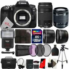 Canon EOS 90D 32.5MP DSLR Camera + 18-55mm & 75-300mm Lens 32GB Accessory Kit
