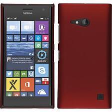Custodia Rigida  Nokia Lumia 730 - gommata rosso + pellicola protettiva