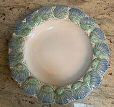 "10"" Sea Shell Soup Bowl Made in Portugal Magolica Stoneware redware"