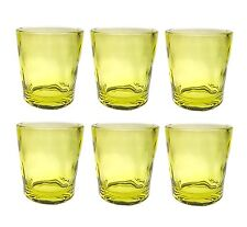 QG 14oz Clear Light Green Acrylic Plastic Glass Water Juice Cup Tumbler Set of 6