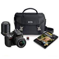 Nikon D5300 24.2MP HD-SLR 2-Lens Bundle, 18-55mm VR II Lens, 55-200MM VR Lens