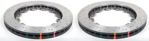 DBA REAR SLOTTED & DRILLED BRAKE ROTORS 5000 FOR 09-19 NISSAN GT-R R35 52323.1XS