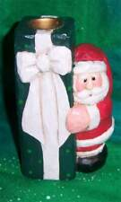 New ListingRetired Midwest Cannon Falls Eddie Walker Santa Claus Present Candle Holder