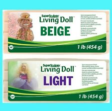 Super Sculpey LIVING DOLL LIGHT & BEIGE 1lb - 454g to 12lbs Polymer Clay VERY FR