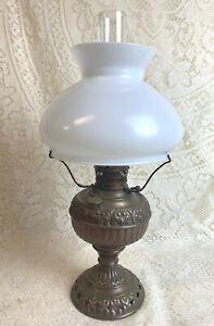 Miniature Brass Oil Kerosene Lamp Tiny Juno with Shade
