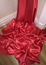 """30 YARDS NEW RED SATIN LINING FABRIC...45"""" WIDE Full Roll Of 30 Yards £40"""