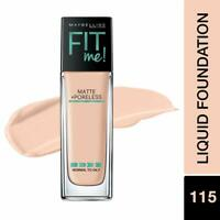 115 Ivory From Maybelline New York Fit Me Matte+Poreless Liquid Foundation, 30ml