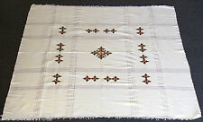 ETHIOPIAN CROSS HANDSPUN COTTON TABLECLOTH AND 4 NAPKINS - NEW