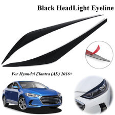 Black Headlight Eyeline Molding Decoration Trim For Hyundai Elantra AD 2016-2018