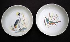 Vintage Sudáfrica Kruger Park drostdy pintado a mano diseño de pájaro Platos De Pin