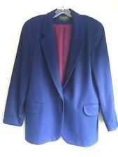 Nordstrom Premier Collection Ladies Wool Blazer - Royal Blue - Petite Medium