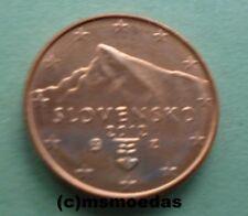 Slowakei Slovensko 1 Cent Münze Prägejahr 2012 Euromünze coin moedas unc