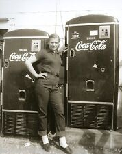 Coca Cola 1950 Coke Machines Girl With Twin Coke Dispensers Bobbie Soxer LOOK